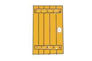 how to draw open door in agi32