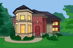 how to draw a dream house - House Drawing Easy