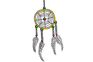 How To Draw A Simple Dream Catcher How to Draw Dreamcatcher Step by Step Easy Drawings for Kids 30