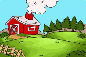 How to draw a farm