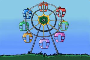 How to draw a Ferris Wheel