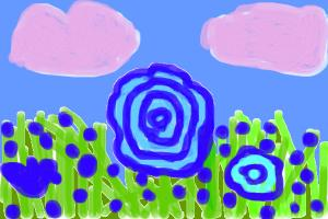 how to draw a flower patch