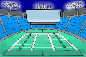 How to Draw a Football Stadium