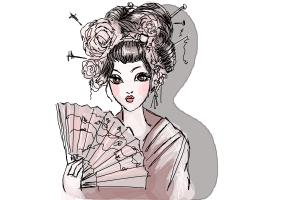 How To Draw A Geisha Drawingnow