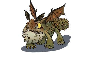 how to draw a gronckle dragon from how to train your dragon drawingnow