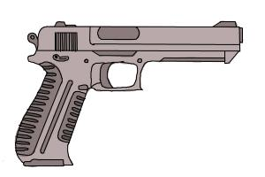 How to Draw a Gun Easy