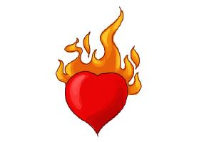 How to Draw a Heart On Fire