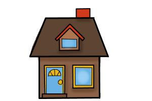 How To Draw A House For Kids Drawingnow