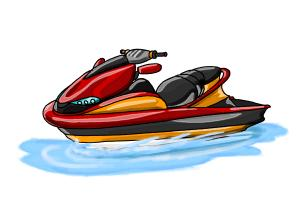 How to Draw a Jet Ski