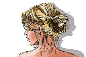 How to Draw a Messy Bun