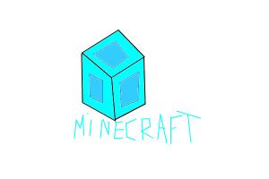 how to draw a minecraft diamond block