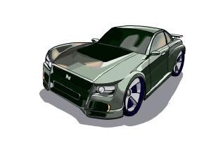 How to draw a Nissan Skyline