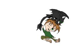 How to Draw a Picture Of a Cute Hiccup And Toothless