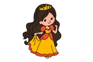 How to draw a princess for kids