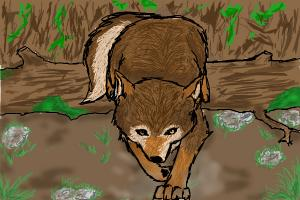 how to draw a wolf jumping