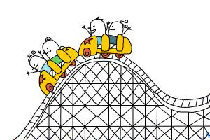 How to draw a roller coaster for kids