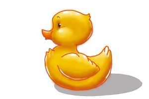 How to draw a rubber duck
