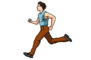 How to Draw a Running Person