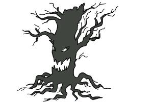 How to Draw a Scary Tree