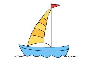 How to draw a simple boat
