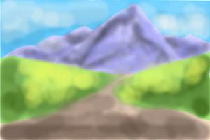 How to Draw a Simple Mountain Scene