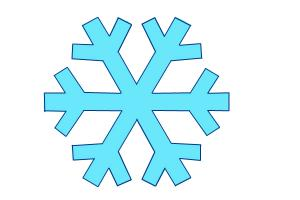 How to draw a simple snowflake