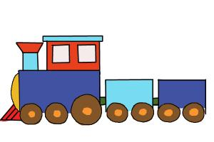How to Draw a Simple Train