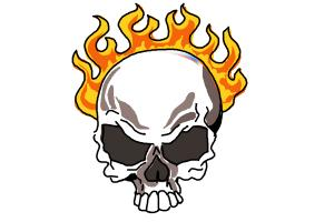 How to Draw a Skull On Fire