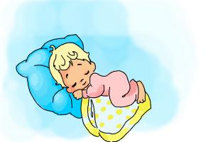 How to draw a sleeping baby
