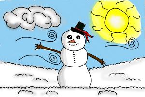 How to Draw a Snowman ( With The Scenery)