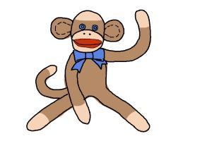 how to draw a cartoon monkey