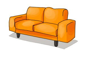 How to Draw a Sofa