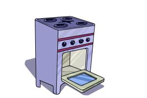 How To Draw Stove Step By Step Easy Drawings For Kids