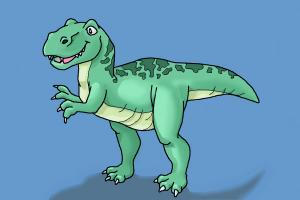 how to draw t rex drawingnow