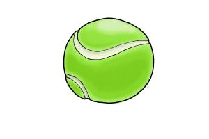 How to Draw a Tennis Ball