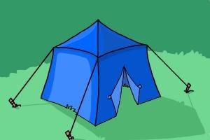 How to Draw a Tent & How to Draw a Tent - DrawingNow