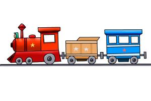 How to draw a train step by How To Draw A Train For Kids Step By Step