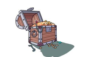 how to draw a treasure chest drawingnow