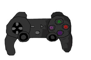 how to draw a video game controller