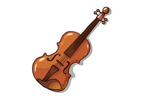How to Draw a Violin Step by Step
