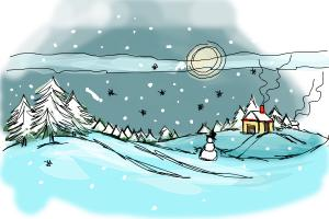 How to Draw a Winter Scene
