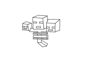 how to draw a wither from minecraft