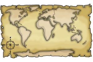 How to draw a world map drawingnow how to draw a world map gumiabroncs Image collections