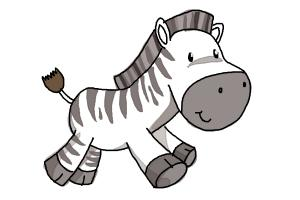 How To Draw A Zebra For Kids Drawingnow