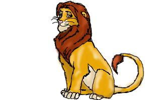 How to Draw Adult Simba