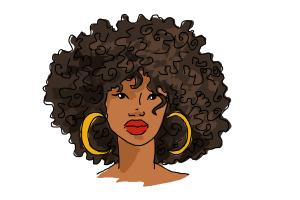 How to Draw African American Hair