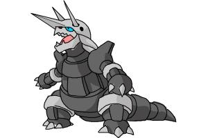 How to Draw Aggron from Pokemon