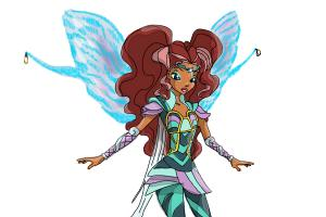 How to Draw Aisha, Fairy Of Waves from Winx