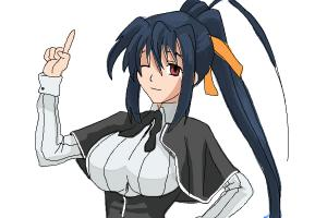 How to Draw Akeno Himejima from High School DxD