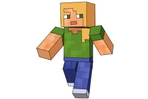 How to Draw Alex from Minecraft